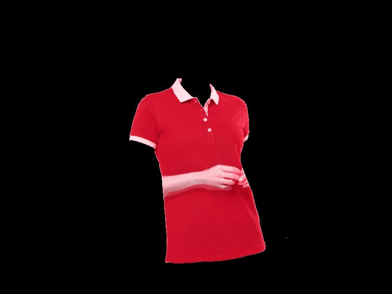 Ladies' Two-tone Piqué Polo Shirt