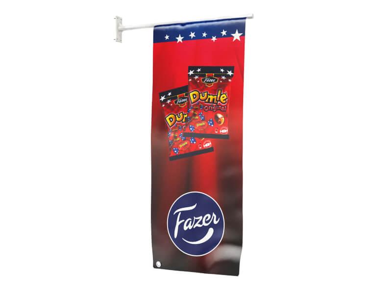 Fasadflagga R-40x100 cm