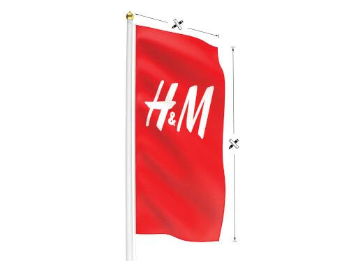 Reklamflagga i Valfria mått