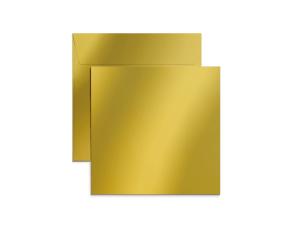 Exklusiva 220x220 mm kuvert i metallicpapper med tryck