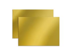 Exklusiva C5-kuvert i metallicpapper med tryck