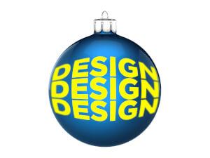 Julgranskula 8 cm med eget tryck / logo