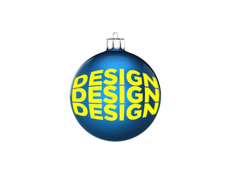 Julgranskula 6 cm med eget tryck / logo