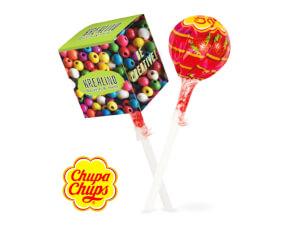 Chupa chups klubbor med digitaltryckt förpackning
