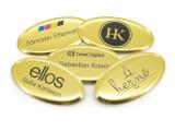 Namnskylt - Ellips 1 - Guld