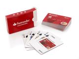 En kortlek för Santander där spelkorten är designade som bankkort