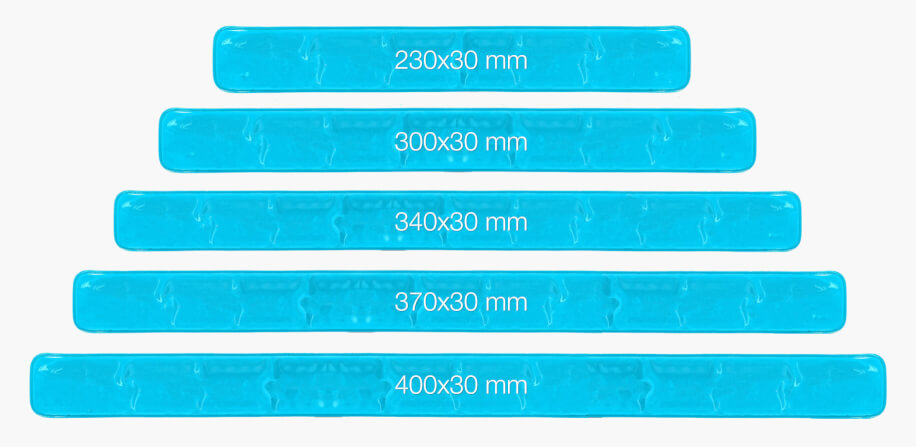 Storlekar på slapwrap reflexband