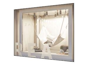 Fönsterdekal - Frostad - Referensbild