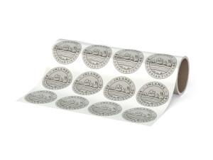 Etikett på Rulle - Ribbat papper